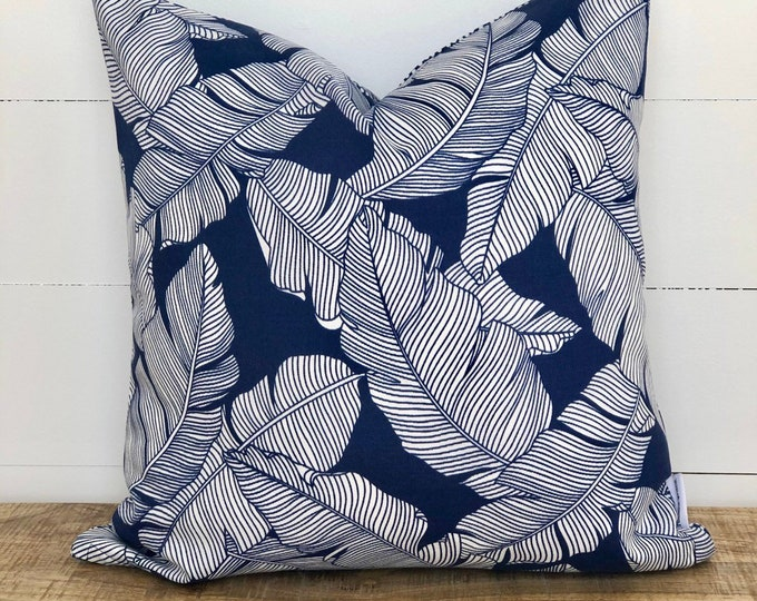 CLEARANCE** Carano Plams with Geometric Nautical backing Indoor/Outdoor Cushion Cover