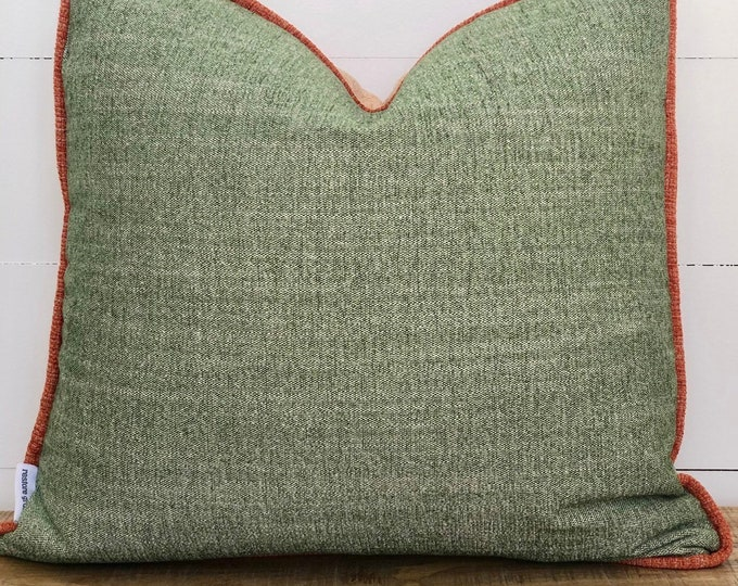 3 Toned Cushion Cover with Clay Piping