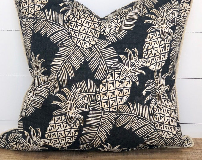 Pineapple Crush Indoor/Outdoor Cushion Cover with coconut piping
