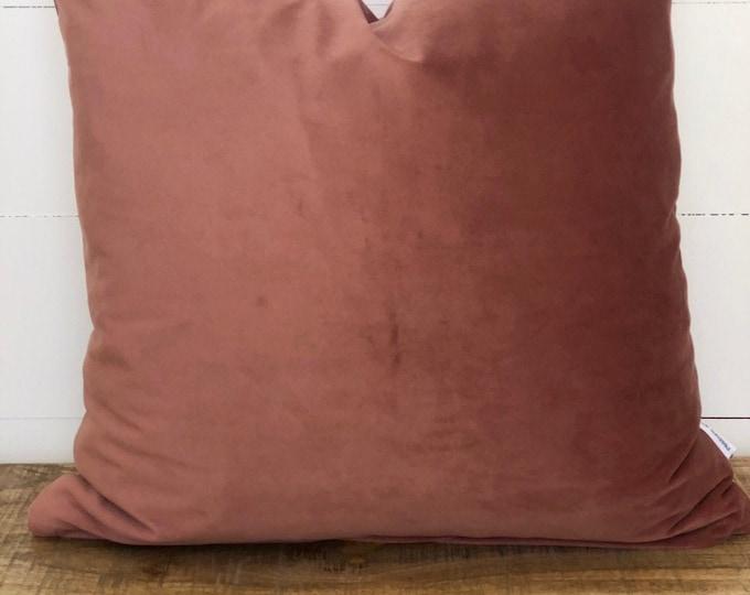 Blush Velvet Cushion Cover