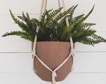 Macrame Plant Hanger - Knotted