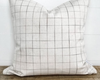 Cushion Cover - Avett Check Basketweave