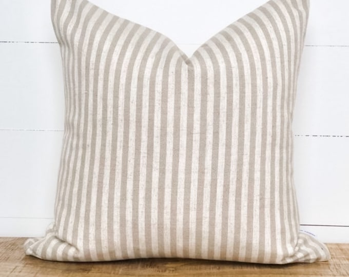 Cushion Cover - Taupe Scout Stripe