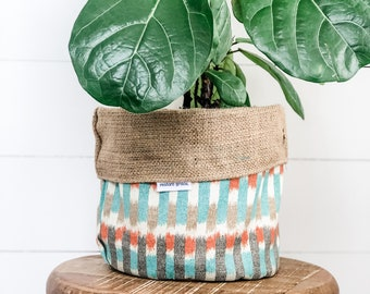 CLEARANCE - Pot Plant Cover - Southwest Reversible Hessian
