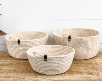 Rope Storage Bowl - Black strap with Silver stud