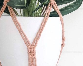 Macrame Plant Hanger - Dusty Peach