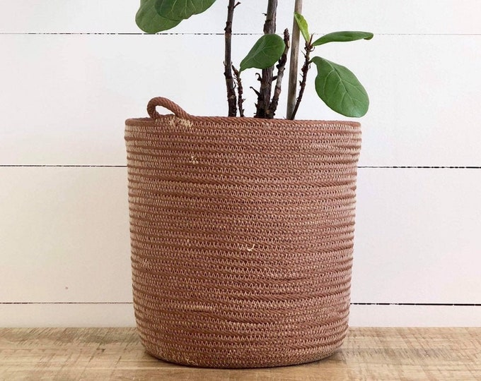 Tan Cotton Rope Plant Pot
