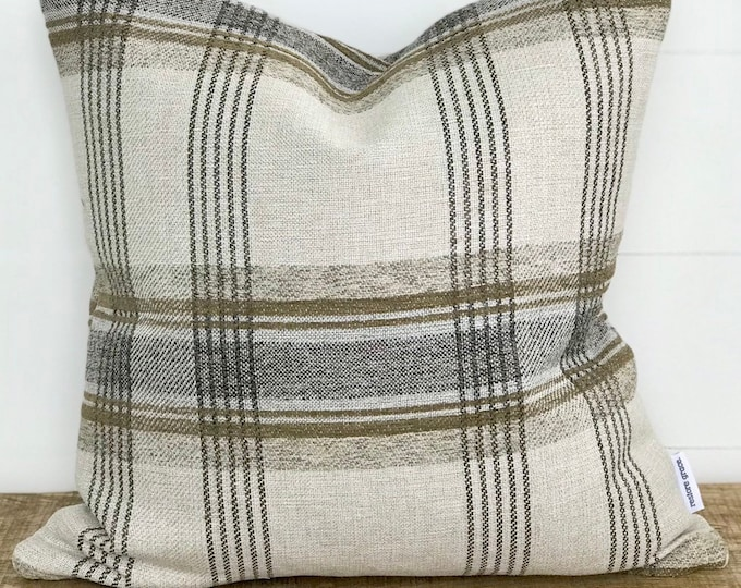 Cushion Cover - Toast Plaid Basketweave