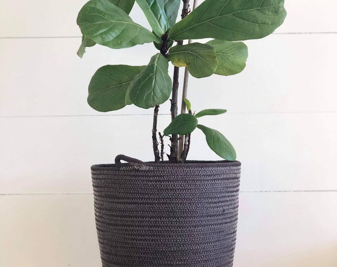 Hand dyed Cotton Rope Planter Pots