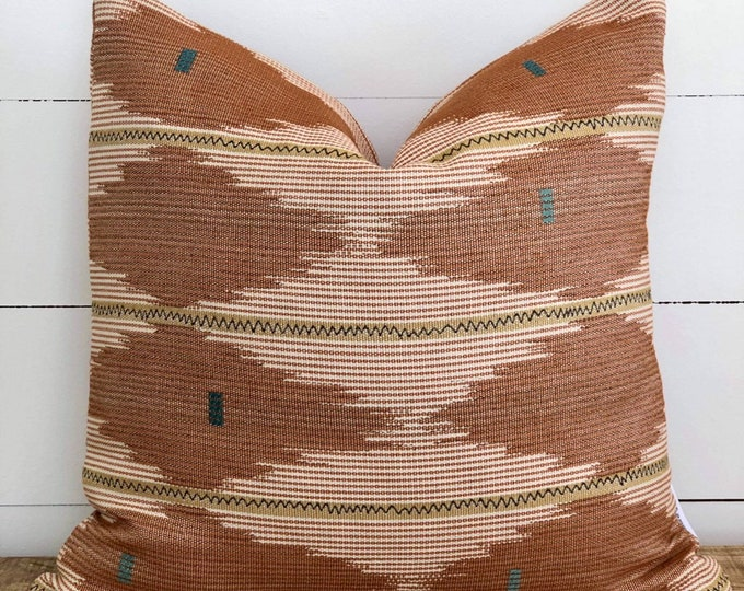 Southwest Rosewood tribal Woven Cushion Cover
