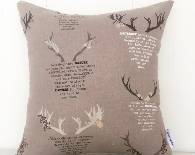 CLEARANCE** Deers Gender Neutral Kids Nursery or Bedroom cushion cover
