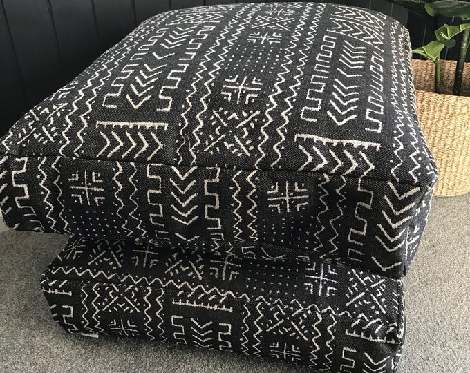 Mazinda Onyx Aztec Woven floor cushion cover