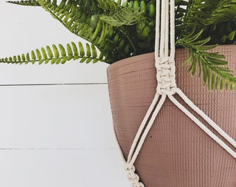 Macrame Plant Hanger - Traditional Square Knot