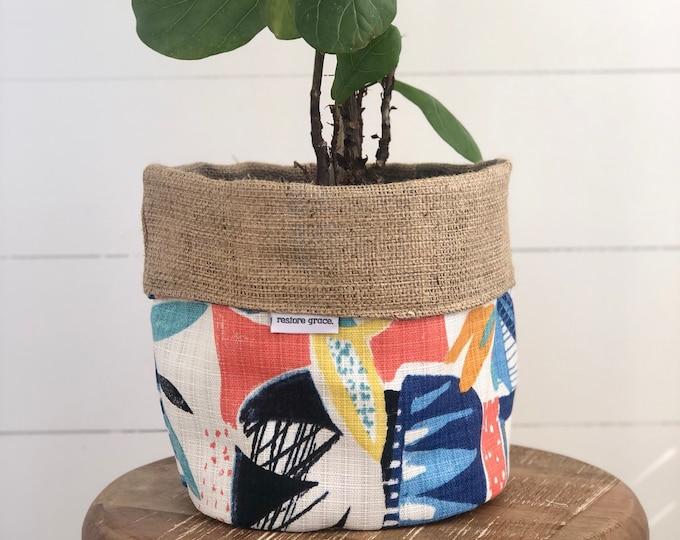 Disco Reversible Hessian Pot Plant Bag