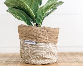 Mini Pot Plant Cover - Bark