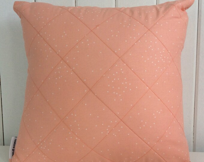 CLEARANCE** Quilted pink polka dots kids/girls cushion cover