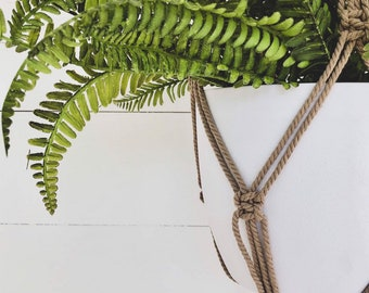 Sepia Macrame Plant Hanger with 4mm Cotton Cord