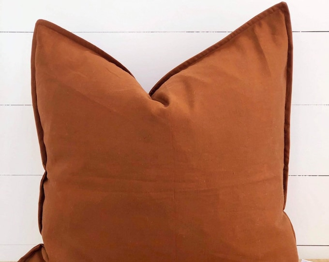Brick European Linen Blend Cushion Cover with Flange