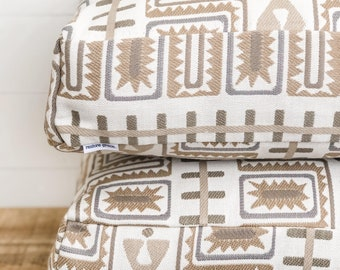 Floor Cushion Cover - Aztec Sun