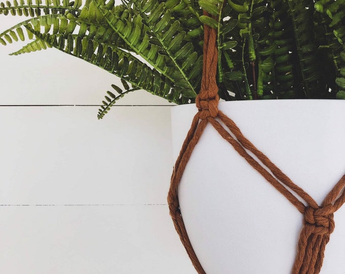 Amber Macrame Plant Hanger with 4mm Cotton Cord