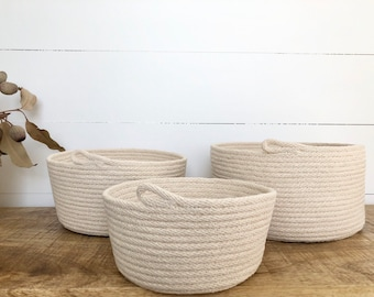 Natural Rope Storage Bowls