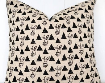 SALE - Geometric gazelles cushion cover