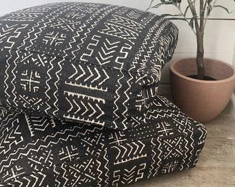 Floor Cushion Cover - Mazinda Onyx Aztec Woven