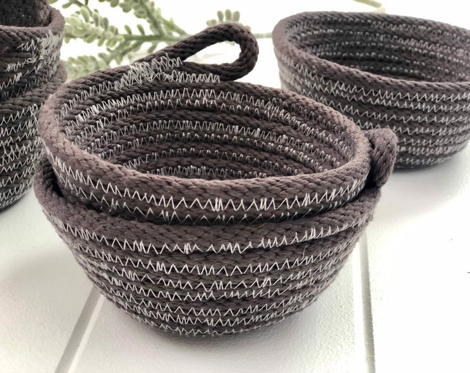 EXPRESS SHIPPING - Jewellery Bowl - Hand dyed grey (All Domestic orders ship Express until 18/11/19)