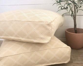 Floor Cushion Cover - Maize Modern Wanderer woven