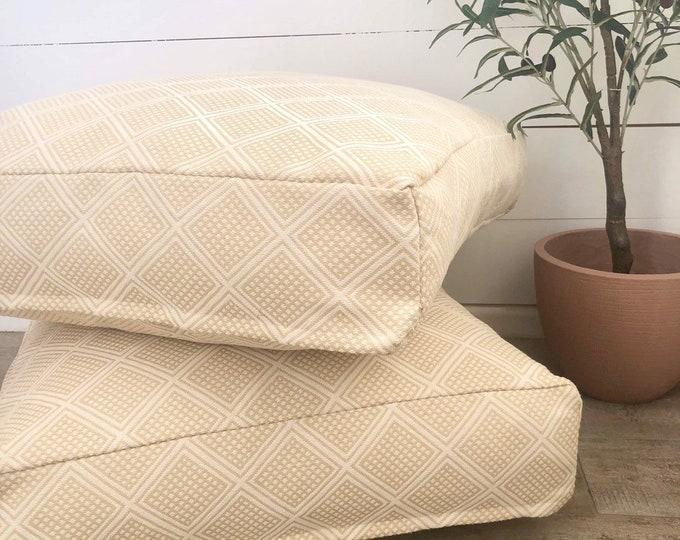 Maize Modern Wanderer woven floor cushion cover
