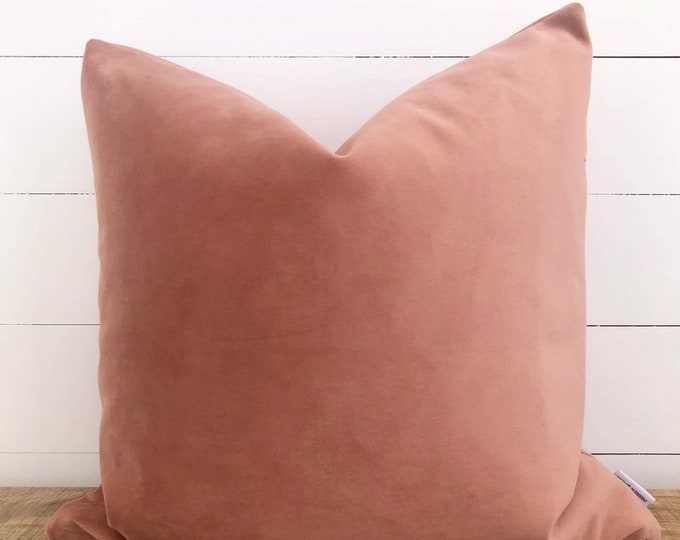 Pink Clay Velvet Cushion Cover