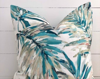 Heavenly Surf Palm Indoor/Outdoor Cushion Cover