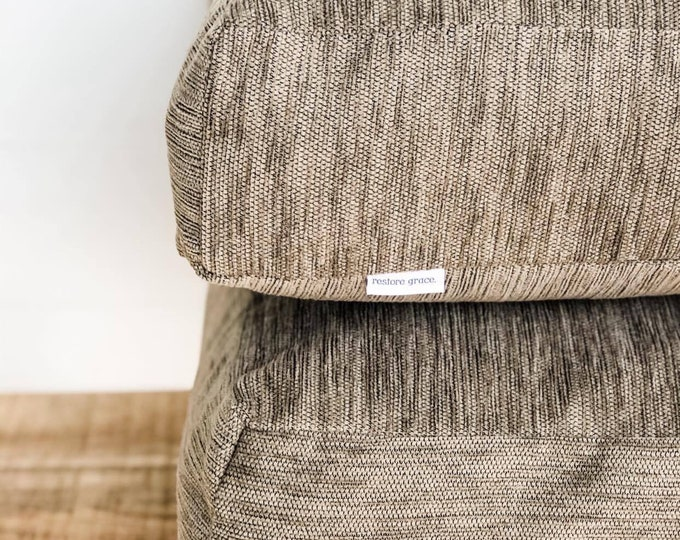 Floor Cushion Cover - Linseed Woven