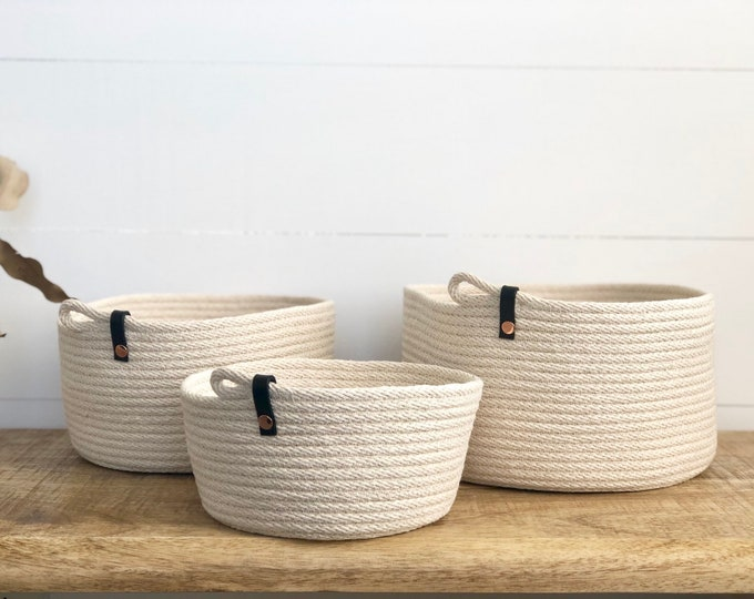 Rope Bowl with Black strap
