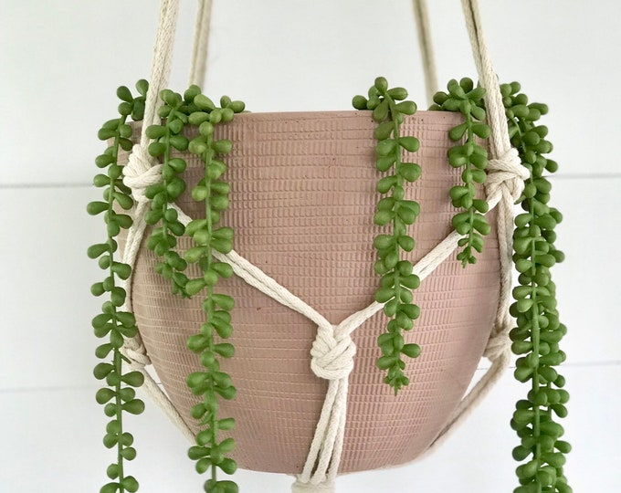 Knotted Cotton Macrame Plant Hanger