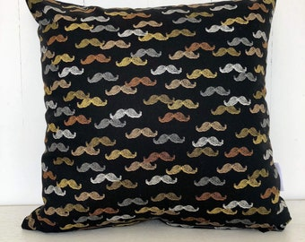 SALE - Moustache boys kids cushion cover