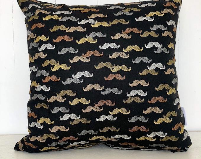 CLEARANCE** Moustache boys kids nursery or bedroom cushion cover