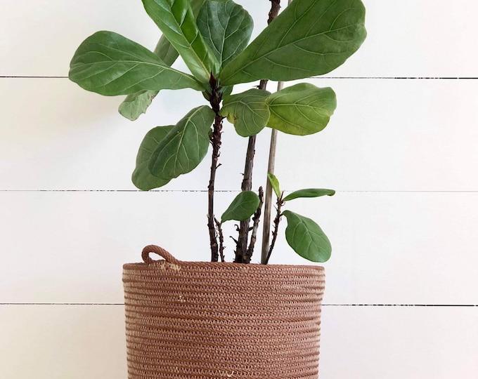 Tan Cotton Rope Planter Pots