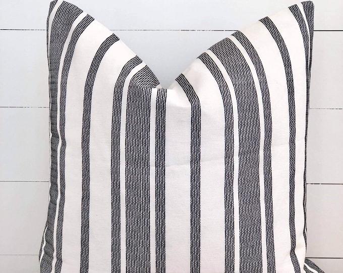 Monochrome Stripe Cushion Cover