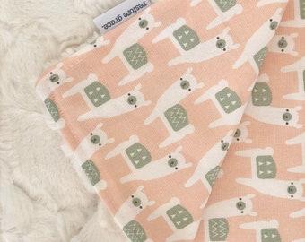 Baby Pram Blanket Peach Llama Picnic