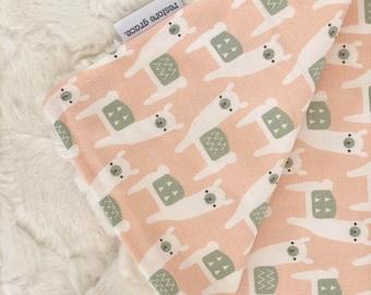 Baby Pram Blanket - Peach Alpaca Picnic