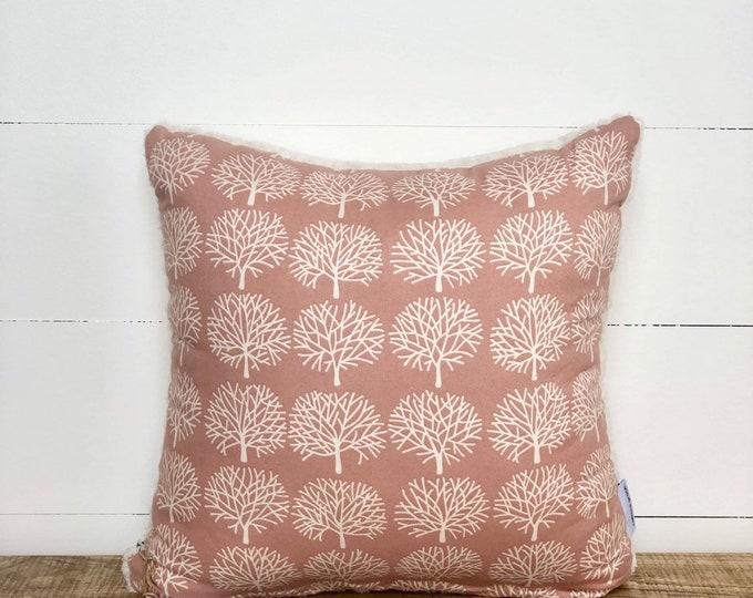 CLEARANCE**  Dusty Pink Tree Nursery Cushion Cover