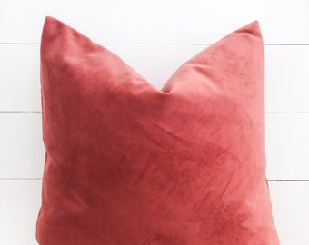 Cushion Cover - Terra Rose Velvet
