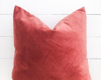 Cushion Cover - Terra Rose Velvet