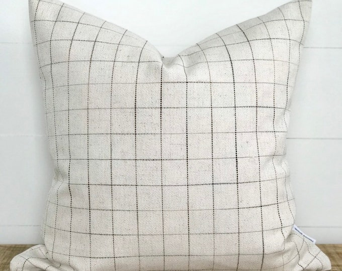 Avett Check Basketweave Cushion Cover
