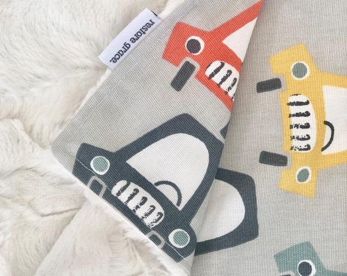 Baby Pram Blanket - Beep Beep Cars