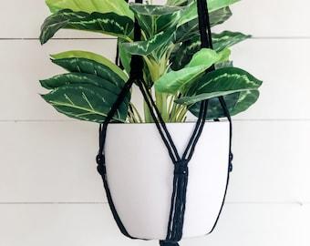 Macrame Plant Hanger - Black