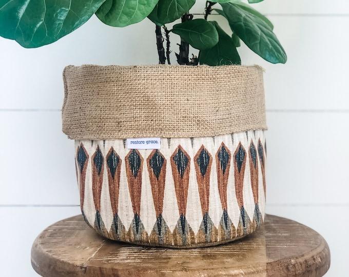Pot Plant Cover - Birch Reversible