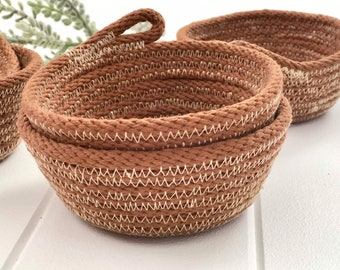 Jewellery Bowl - Hand dyed Tan Free Domestic Standard Shipping when you spend over 149.00