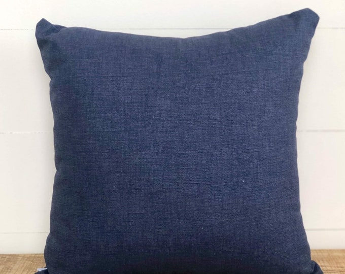SALE - Indigo Denim Unisex kids nursery cushion cover